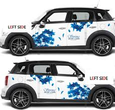 Left Side Car Cherry Blossom Decals Full Flower Chinese Windmill Stickers Waterproof Accessories Fashion Hot Stickers Car Stickers Aliexpress