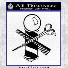 Barber Pole Scissors Decal Sticker V1 A1 Decals