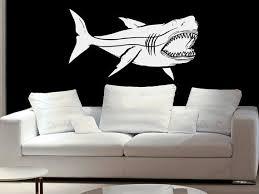 Megalodon Shark Jaws Great White Vinyl Wall Decal By Etsywalls 29 99 White Vinyl Vinyl Wall Decals Megalodon Shark