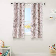 Basics Kids Room Darkening Blackout Window Curtain Set With Grommets 42 X 63 Pink Flowers Walmart Com Walmart Com