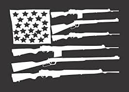 Amazon Com Barking Sand Designs Flag Rifles Usa Guns Die Cut Vinyl Window Decal Sticker For Car Truck 6 X4 Automotive