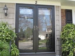 pella double storm doors for entrance