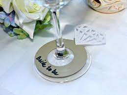 bridal shower drink tags wine glass