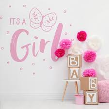 It S A Girl Gender Reveal Vinyl Wall Decal Sticker Perfect Decoration For A Baby Reveal Baby Shower Party 6188 Stickerbrand