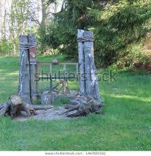 rural garden design stock photo