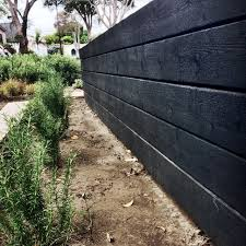 japanese charred wood garden wall