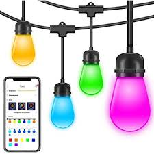 Govee Outdoor String Lights 36 Feet Color Changing String Lights With App Dimmable Waterproof Hanging Light For Patio Fence Backyard Wedding Party 12 Bulbsnot Connectable Buy Products Online With Ubuy Philippines