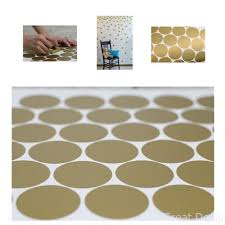 Gold Wall Decal Dots 200 Decals Easy To Peel Stick Safe On Painted For Sale Online Ebay