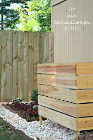 How To Hide An Air Conditioner With A Beautiful Wooden Screen Cheap Landscaping Ideas Diy Air Conditioner Outdoor Remodel