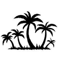 Shop Palm Trees On The Beach Vinyl Wall Decal Overstock 8546754