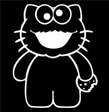 Hello Kitty Cookie Monster Sesame Street Die Cut Vinyl Decal Sticker Texas Die Cuts
