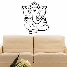 Shop Dancing Ganesha Vinyl Wall Art Decal Sticker Overstock 10597404