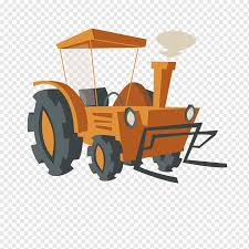 Agriculture Farm Cartoon Cattle Farm Tractor Car Sticker Transport Png Pngwing