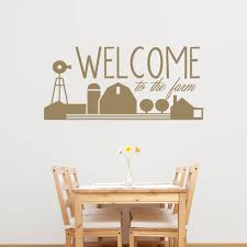 Shop Welcome To The Farm Wall Decal 48 Wide X 22 Tall Free Shipping On Orders Over 45 Overstock 12853378