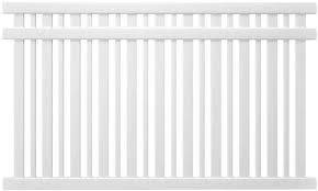 Spaced Picket Fence Panel 5 Ft H X 8 Ft W Bracket Free Uv Protected Vinyl For Sale Online Ebay