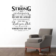 Be Strong And Courageous Wall Decal Quote Bible Verse Christian Wall Decor Stickers Joshua 1 9 Decal For Kids Rooms Wall Stickers Sale Wall Stickers Tree From Joystickers 12 66 Dhgate Com