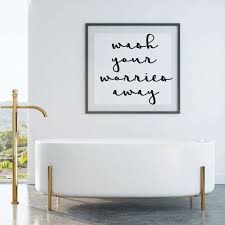 Bath Wall Decal For Bathroom Decor Wash Your Worries Away Etsy