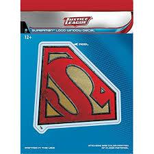 Dc Comics St Dcjl Smlogo1 Superman Logo Car Window Decal 44 Dc Justice League Dimensional Walmart Com Walmart Com