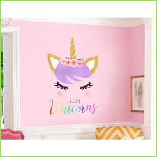 Unicorn And Rainbow Wall Stickers Wall Decals Free Delivery Over 20 Wallstickersforkids Co Uk