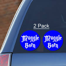 Muggle Born 2 Pack Vinyl Decal Harry Potter Hogwarts Slytherin Gryffindor For Sale Online
