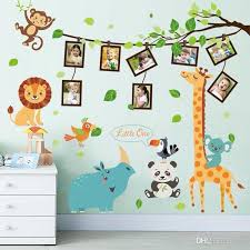 Cartoon Animals Photo Wall Decoration Childrens Room Layout Self Adhesive Paper Class Classroom Cultural Creativity Decorations Large Wall Decals For Kids Large Wall Sticker From Qila 8 05 Dhgate Com