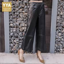 spring autumn genuine leather pants
