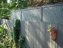 Extending A Privacy Fence With Wood Lattice Screen Panels Backyard Privacy Lattice Screen Lattice Fence