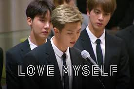 the story from rm tell us about yourself love myself