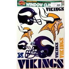 Minnesota Vikings Static Window Clings 12x17 Reuseable Cling Set Bucknut Collectibles