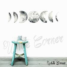 Amazon Com Moon Phases Wall Decal Moon Phases Decor Multicolored Moon Phases Modern Decals Moon Wall Decal Moon Phase Wall Art Ga4 Handmade
