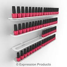 nail polish display holders wall mount