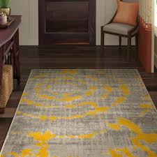 chaima light gray yellow area rug