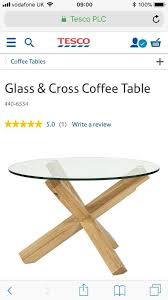 tesco oak and glass round table brand