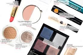 budget beauty makeup under