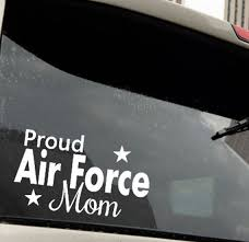 Proud Mom Air Force Vinyl Decal Auto Decal Mom Mother Etsy