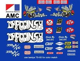 Amc Dragonfly Nhra 1 32nd Scale Slot Car Decals