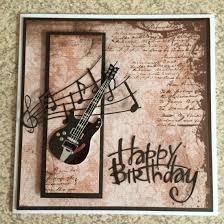 Happy Birthday Guitar Greetings Card Tarjetas Masculinas