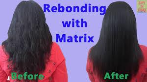 rebonding smoothening straightening of