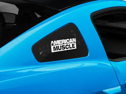 Sec10 Mustang Americanmuscle Quarter Window Decal White 26023g05 05 14 All