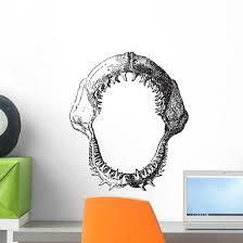 Shark Jaw Vintage Engraving Wall Decal Wallmonkeys Com