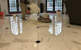 polished calacatta gold marble floor in