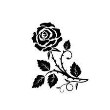 Roses Vinyl Decal Car Window Sticker Rose Flower Tumbler Etsy