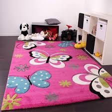 Kids Rug Pink Butterfly Design Girls Children Bedroom Thick Soft Quality Carpet Eur 66 59 Picclick Fr