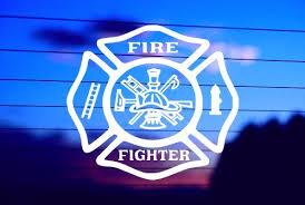 Firefighter Shield Car Decal Sticker