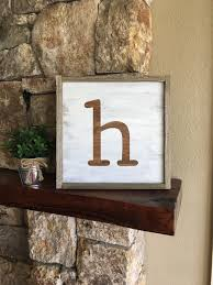 Farmhouse Style Letter Sign Rustic Initial Art Rustic Letter   Etsy