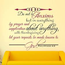 Do Not Be Anxious Philippians 4 6 Scripture Decal Divine Walls