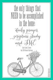 the only things that need to be accomplished in the home daily