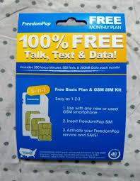 freedompop 4g lte 3 in 1 sim card kit