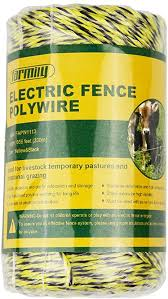 Amazon Com Farmily Portable Electric Fence Polywire 656 Feet 200 Meter 6 Conductors Yellow And Black Color Easy To Install Repair Splice And Rewind Garden Outdoor