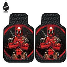 For Nissan New Marvel Deadpool Car Truck Suv Front Floor Mats Set W Gift Yupbizauto Com